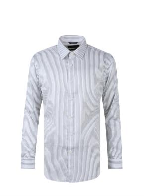 레귤러카라 스트라이프 드레스 셔츠 (GR)