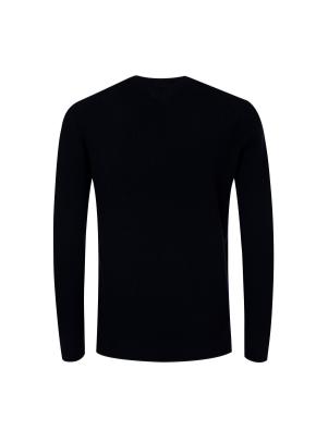 메리노울 100% 텍스쳐드 스웨터 (NV)