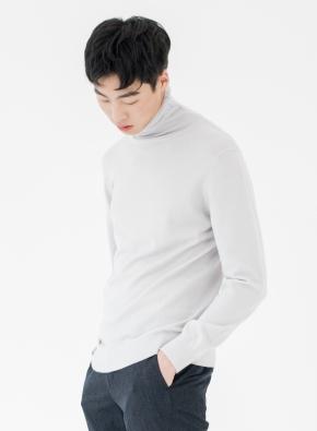 모 100% 원사 터틀넥 스웨터 (LGR)
