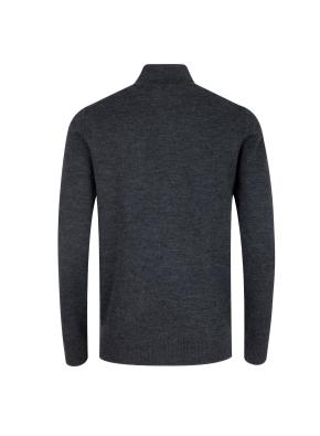 모/아크릴 모크넥 반집업 스웨터 (GR)