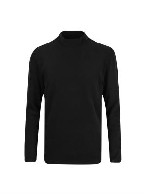 골지조직 베이직 모크넥 티셔츠 (BK)
