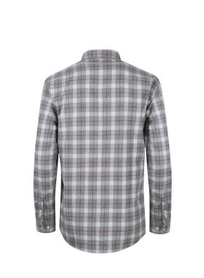 멀티 윈도우 체크 캐쥬얼 셔츠 (GR)