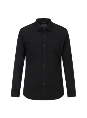 면스판 세미와이드 드레스셔츠(BK)