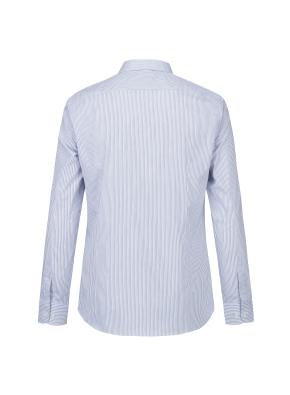 면스판 스트라이프 레귤러카라 드레스셔츠(LBL)