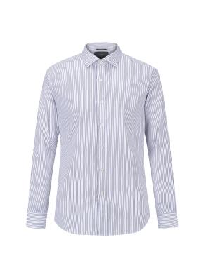 면스판 스트라이프 세미와이드카라 드레스셔츠