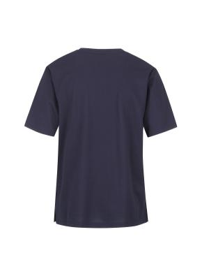피케원단 세미오버핏 반팔 티셔츠(NV)