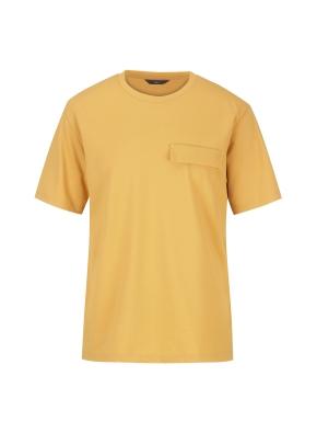 피케원단 세미오버핏 반팔 티셔츠(YE)