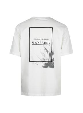 그래픽 세미오버핏 반팔 티셔츠