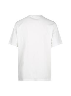 가슴포켓 세미오버핏 그래픽 반팔티셔츠(WT)