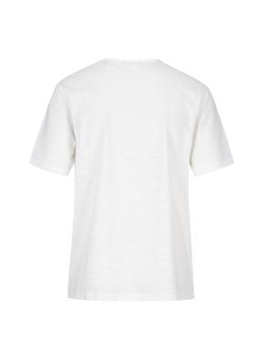 넥변형 슬럽 티셔츠(WH)