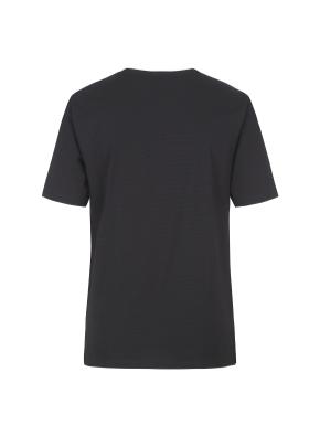 베이직 넥변형 반팔 티셔츠(BK)