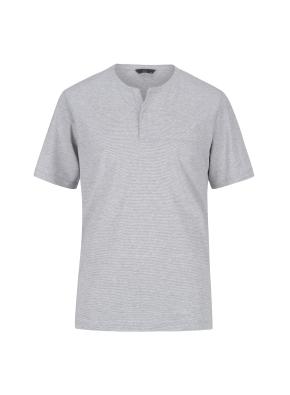 베이직 넥변형 반팔 티셔츠(GR)