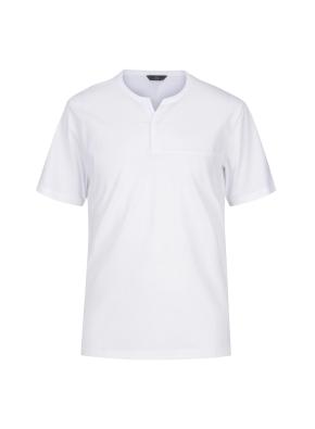 베이직 넥변형 반팔 티셔츠(WH)