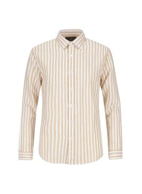 코튼린넨 스트라이프 내츄럴워싱 셔츠(YE)