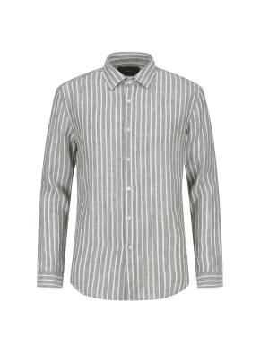 펜슬 스트라이프패턴 셔츠(KH)
