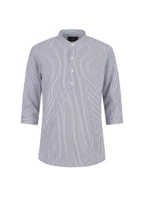 씨어써커 스트라이프 7부 셔츠(NV)