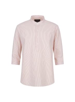 씨어써커 스트라이프 7부 셔츠(OR)