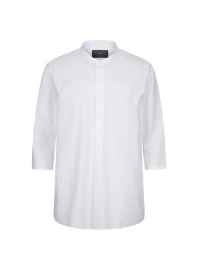밴드카라 5부소매 셔츠 (WT)