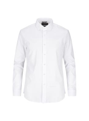 세미와이드 코튼스판 화이트 드레스셔츠