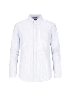 버튼다운 스트라이프 비즈니스 셔츠(BL)