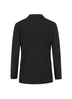 솔리드 블랙 싱글 정장자켓
