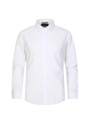 솔리드 세미와이드카라 드레스셔츠 (WT)