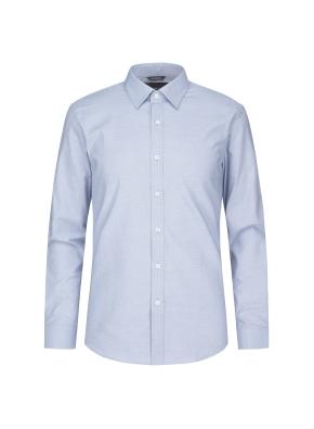 잔조직 패턴 스트레치 드레스셔츠(BL)
