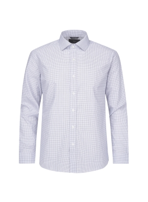 코튼폴리 체크 드레스셔츠(BL)