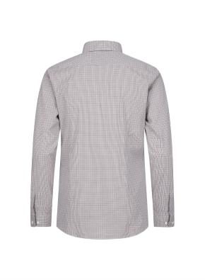 이모션 면스판 잔체크 드레스셔츠(BR)