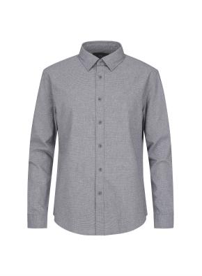 히든버튼 잔조직 플란넬 셔츠 (GR)