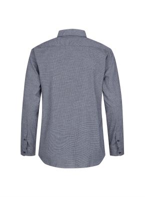 히든버튼 잔조직 플란넬 셔츠 (NV)