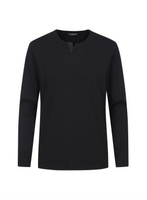슬릿넥 긴팔 티셔츠