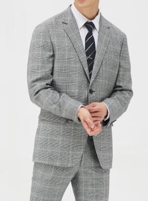 그레이 글랜체크 이모션 임팩트 자켓