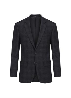 차콜 글랜 체크 이모션 임팩트 수트 자켓