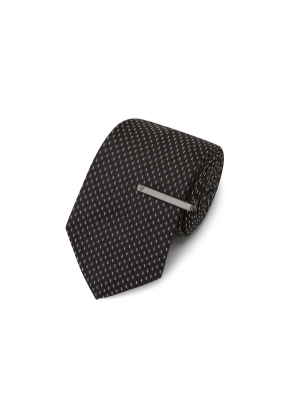 핀 도트 패턴 넥타이 (BR)