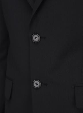 솔리드 블랙 변형 조직 정장자켓 (BK)