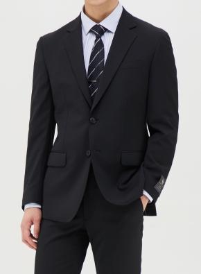 블랙 솔리드 정장자켓 (BK)