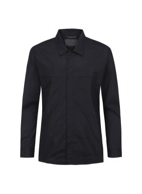 블랙 오버핏 아우터형 셔츠(BK)