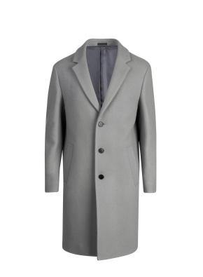 울혼방 스트레치 세미루즈 코트 (GR)