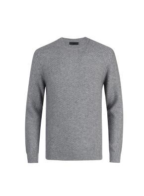 울캐시 전판 조직변형 스웨터 (LGR)