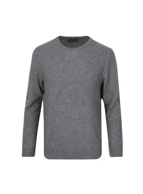울캐시 조직변형 스웨터 (GR)