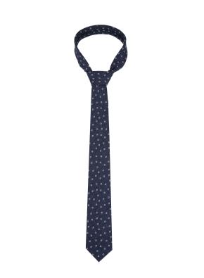 올오버 패턴 블루 넥타이