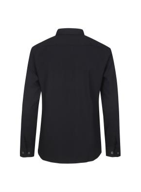 폴리혼방 세미와이드카라 드레스셔츠 (BK)