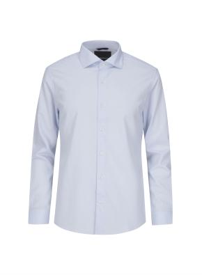 폴리혼방 세미와이드카라 드레스셔츠 (BL)