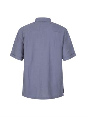 레이온린넨 혼방 반소매 캐쥬얼 셔츠 (DBL)