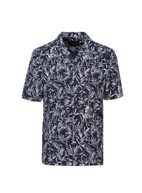 코튼린넨 프린트 카바나 셔츠 (NV)