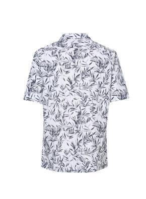코튼린넨 프린트 카바나 셔츠 (WT)