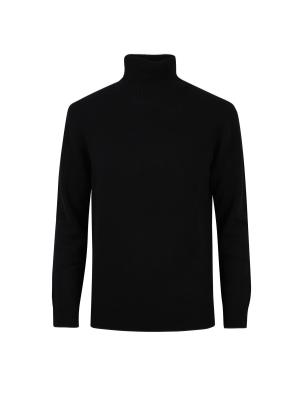 모/캐시미어 블렌디드 터틀넥 스웨터 (BK)