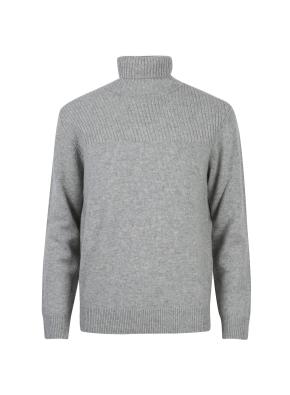 모/캐시미어 블렌디드 터틀넥 스웨터 (LGR)