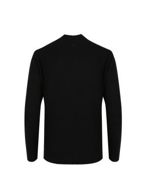 모/캐시미어 블렌디드 모크넥 스웨터 (BK)